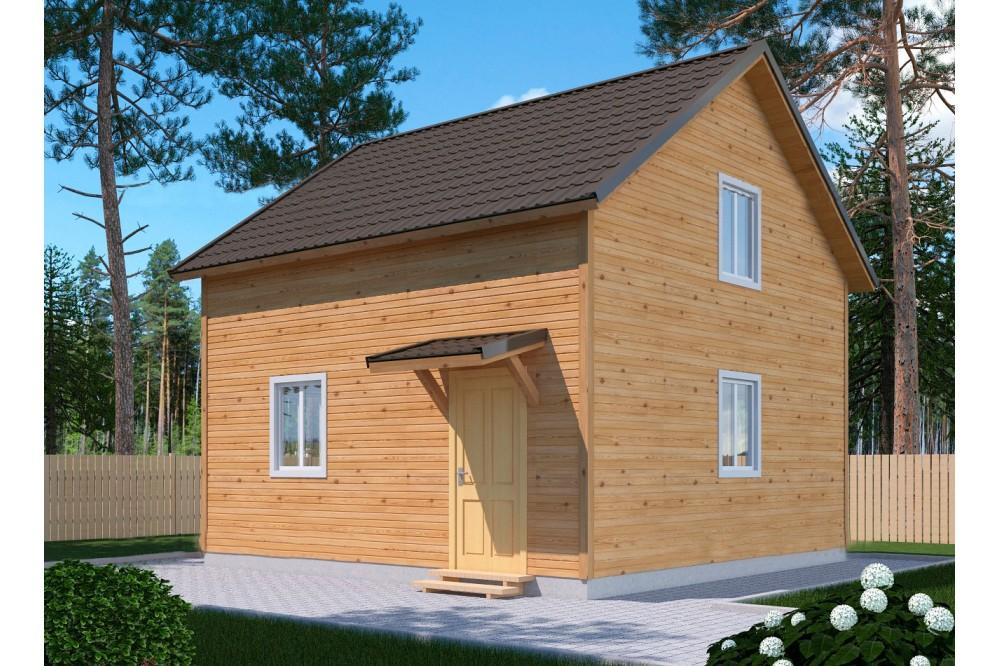 Дом 5х6 м. 150x200 мм. из профилированного бруса