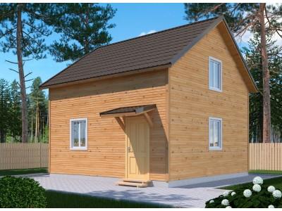 Дом 5х6 м. 150x150 мм. из профилированного бруса