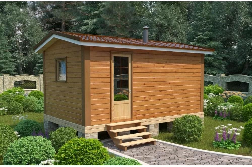 Дачный домик 2.3×5 м.