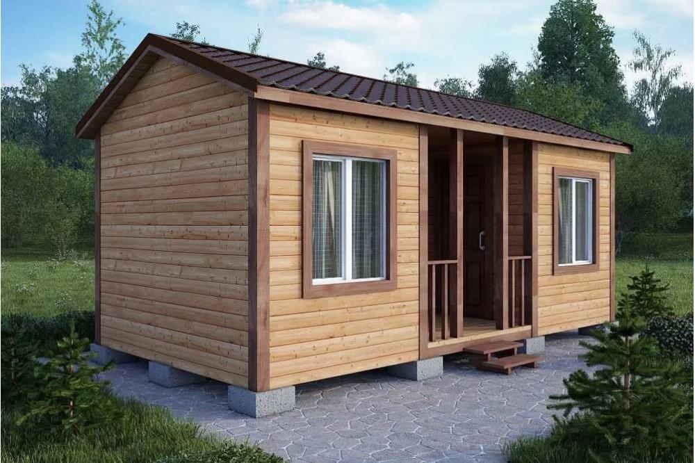 Дачный домик 2.3×6 м.