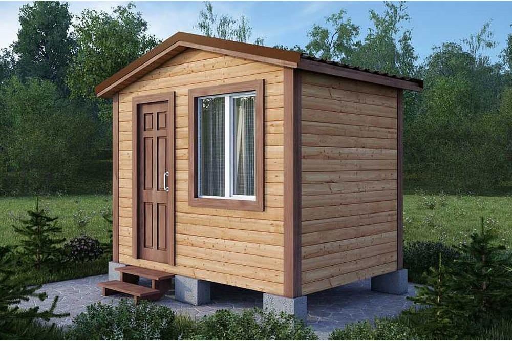 Дачный домик 2×3 м.