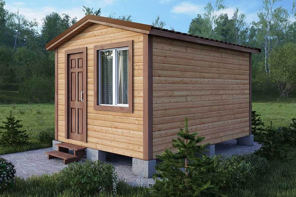 Дачный домик 3×4 м.