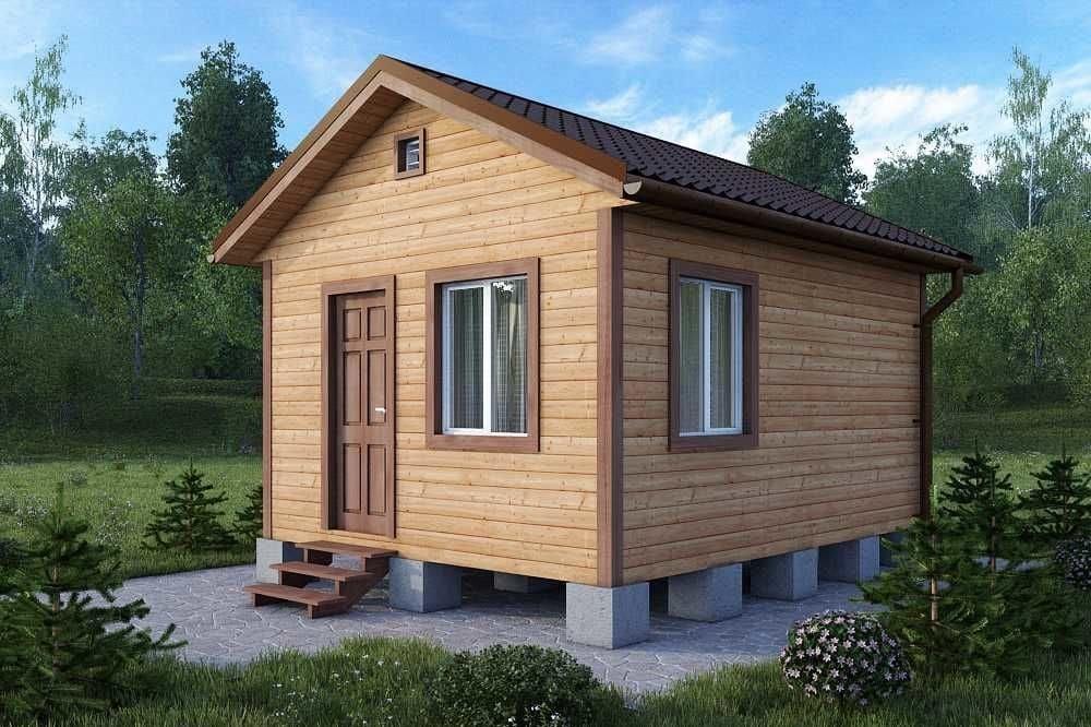 Дачный домик 4×4.6 м.