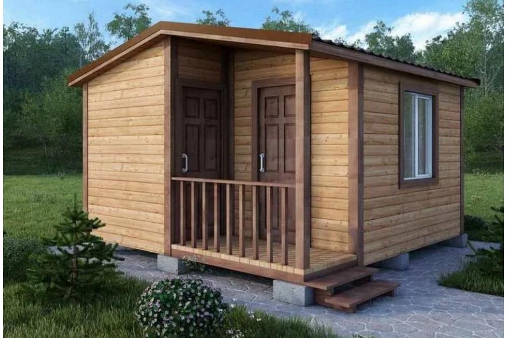 Дачный домик 5×4.6 м.