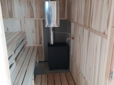 Баня каркасная размер 2×5 м. (3 отделения)