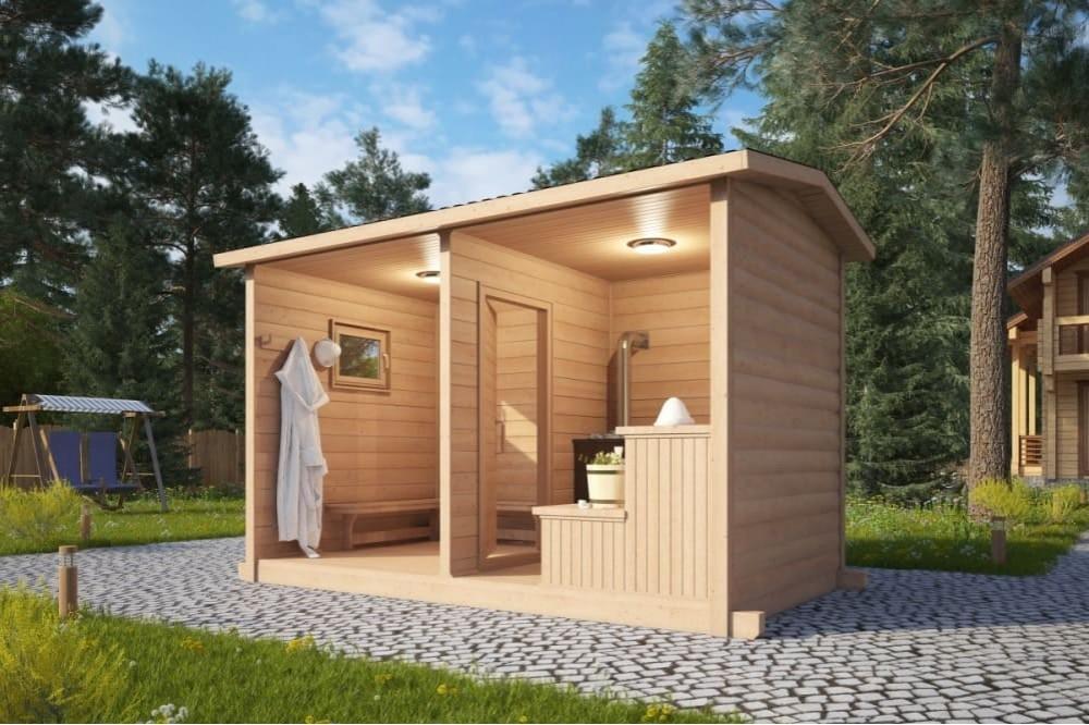 Мобильная баня 2х3 м.
