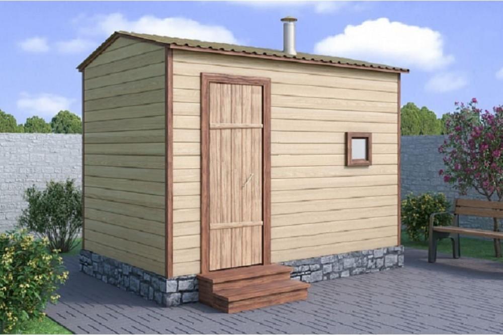 Мобильная баня 2,3х2 м.