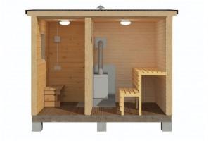 Мобильная баня 2,3х3 м.