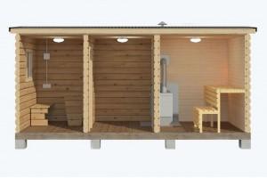 Мобильная баня 2,3х5 м.