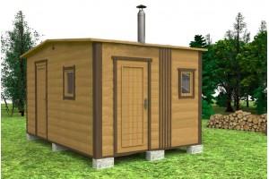 Мобильная баня 3х4,6 м.