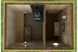 Мобильная баня 5х4,6 м.