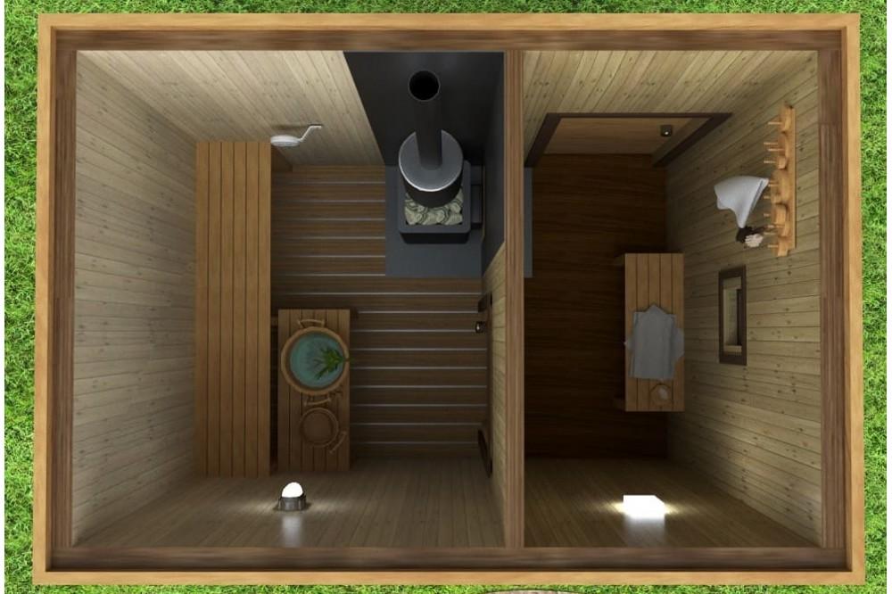 Мобильная баня 5х4 м.