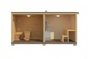 Мобильная баня 2х6 м.